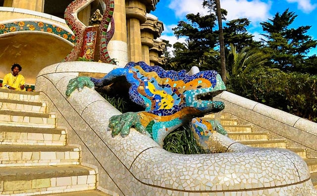 Parc Güell de Gaudí en Barcelona