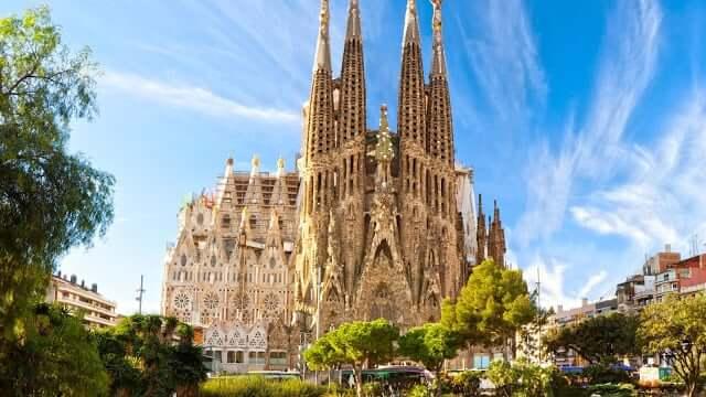 Iglesia de la Sagrada Familia de Gaudí en Barcelona