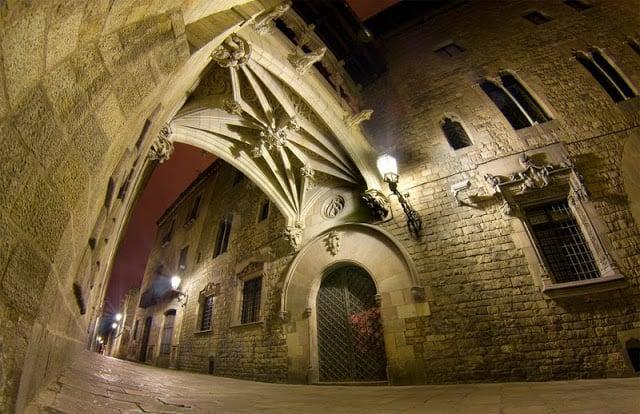 Región del Barrio Gótico en Barcelona