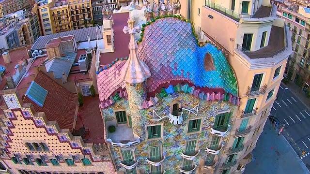 Vista de la Casa Batlló en Barcelona
