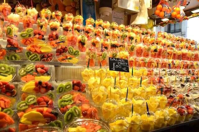 Frutas en el mercado de La Boquería