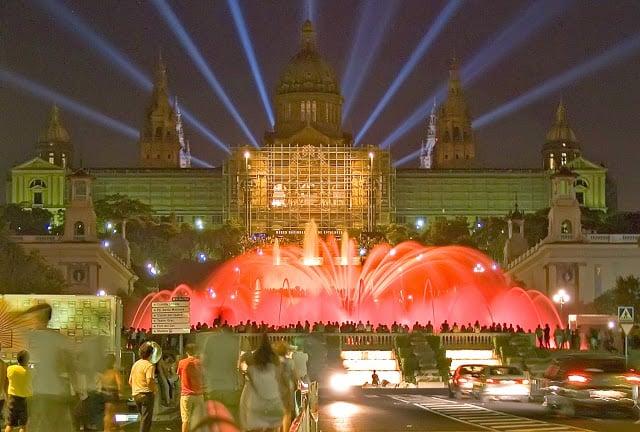 Espectáculo de la Fuente Mágica de Montjuïc