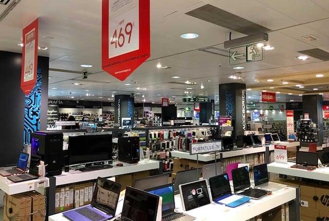 El Corte Inglés en Barcelona - área electrónica