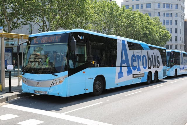 Aerobús en Barcelona