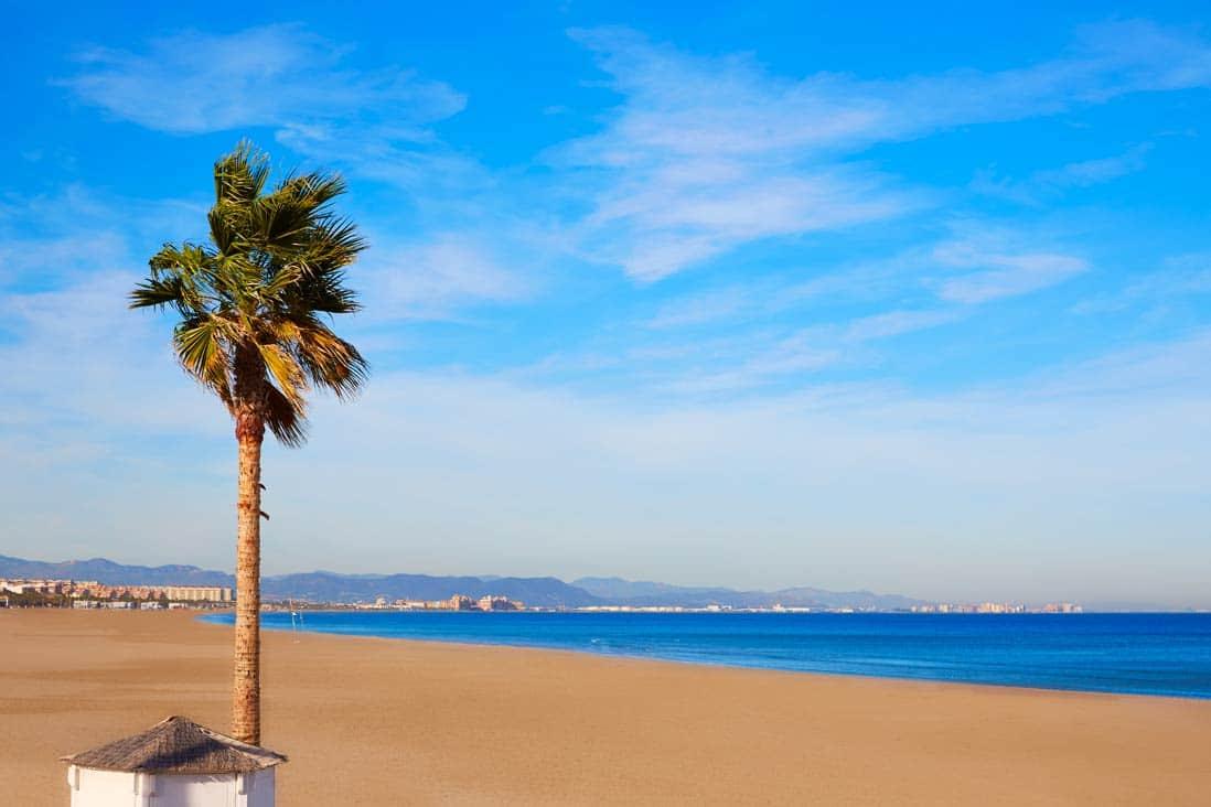 Playa La Malvarrosa en Valencia