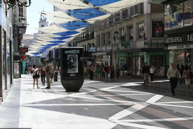 Calle Preciados en Madrid - compras