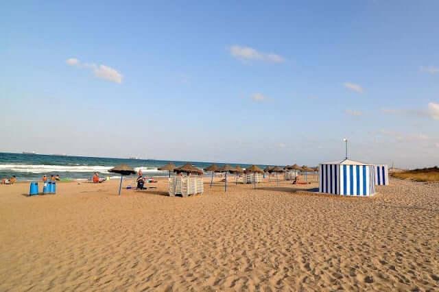 Playa de L'Arbre del Gos en Valencia