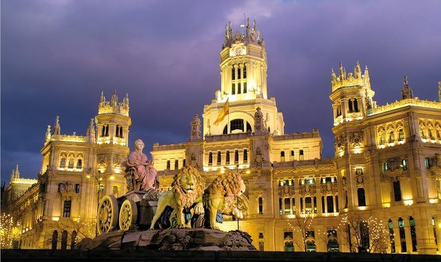 Plaza Cibeles en Madrid