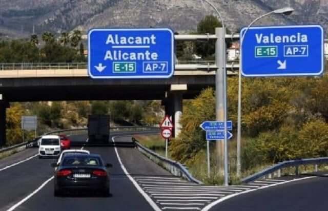 De Barcelona a Valencia - carretera