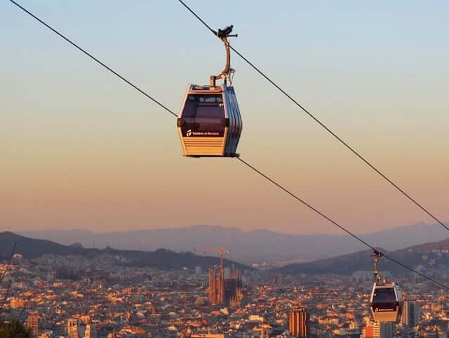 Teleférico Montjuïc en Barcelona