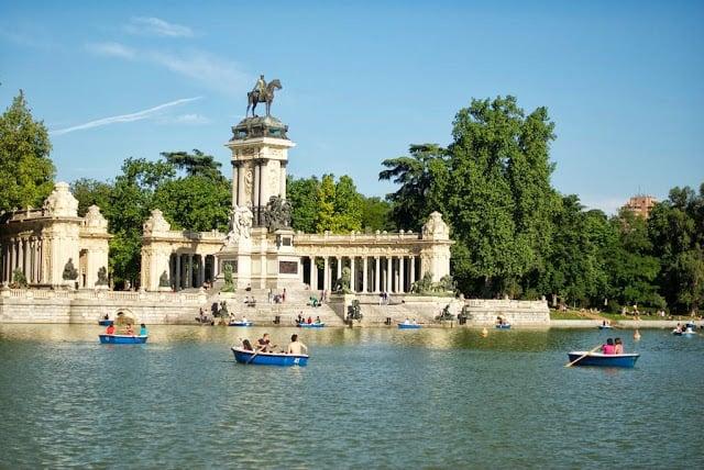 Parque del Retiro en Madrid