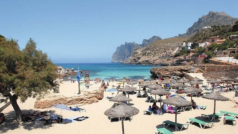 Cala San Vicente en Mallorca