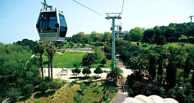 Paseo en teleférico en Montjuïc