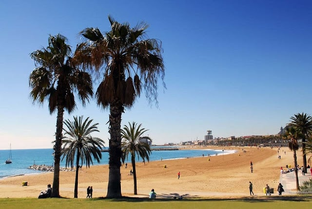 Playa Nova Icària en Barcelona