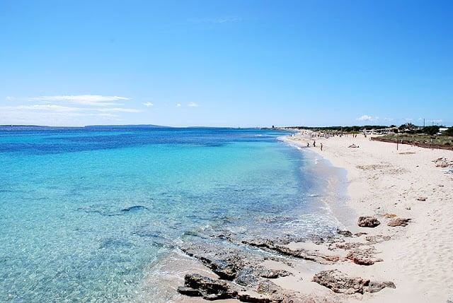 Playa Ses Salines en Ibiza